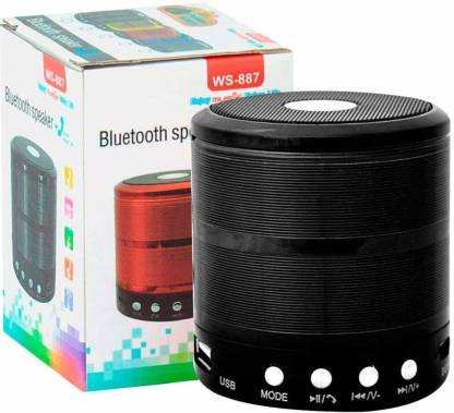 Brown Bee BKS-887 Wireless Bluetooth Speaker Good Quality Sound And Deep Bass ( BLACK ) 5 W Bluetooth Speaker