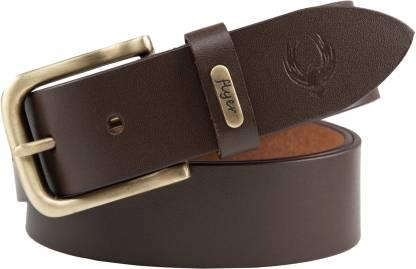 Flyer Men Formal Brown Genuine Leather Belt