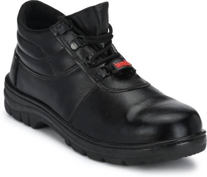 Kavacha SS73 Steel Toe Leather Safety Shoe  (Black, SB)