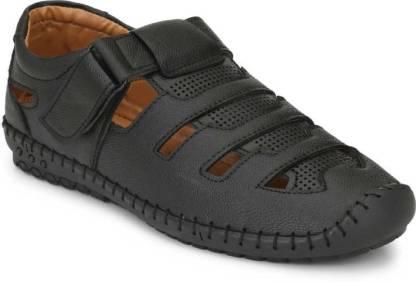 DEALSINJAIPUR Men Black Sandals