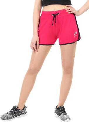 Solid Women Pink Bermuda Shorts