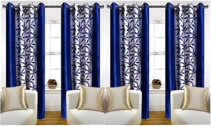 STAMEN 214 cm (7 ft) Polyester Door Curtain (Pack Of 4)