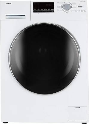 Haier 6 kg Fully Automatic Front Load with In-built Heater White