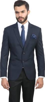 ManQ Solid Single Breasted Formal, Wedding Men Blazer