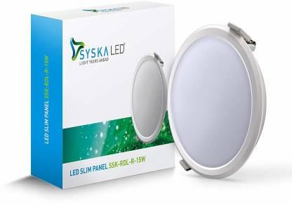Syska 15 W Round B22 LED Bulb