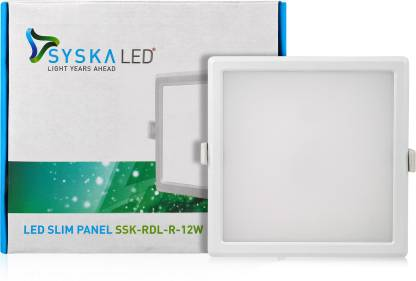 Syska SSK-RDL-S-12W-3000K Flush Mount Ceiling Lamp