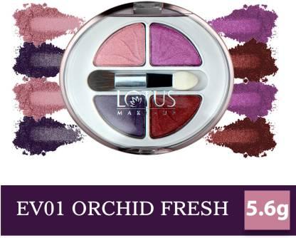 LOTUS MAKE - UP Ecostay Velvet Eye Shadow Palette, Eye Color Powder Makeup 5.6 g