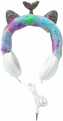 ONOTIC Mermaid and Sequence Ear Shape Over The Ear 3.5mm for Kids Wired without Mic Headset