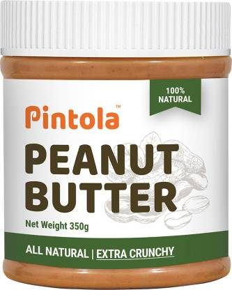 Pintola All Natural Peanut Butter (EXTRA Crunchy) (Unsweetened, Non-GMO, Gluten Free) 350 g