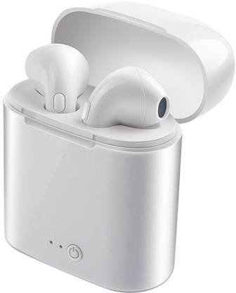 Ekdant i7s TWS sport Wireless Earphones Charging Box Bluetooth Headset Bluetooth Headset(White, True Wireless)