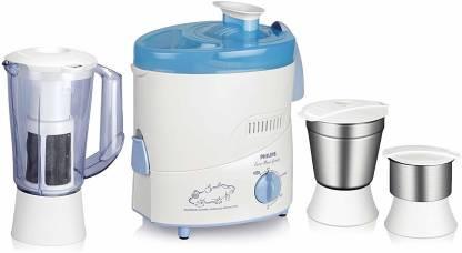 PHILIPS (HL1632) 3Jar Watt 500 Juicer Mixer Grinder (3 Jars, Blue)