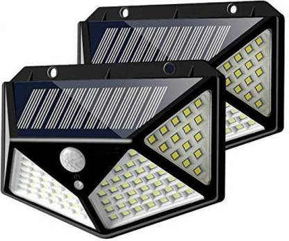 Buram Solar Lights Outdoor 100 Leds, Motion Detector Led Lights Outdoor