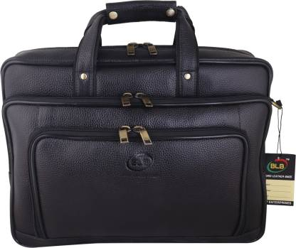 Chiefly Genuine Leather Black Laptop Bag for Men with Padded Laptop Compartment   Everyday Crossbody Shoulder Office Messenger Bag AIBL1587 Waterproof Messenger Bag