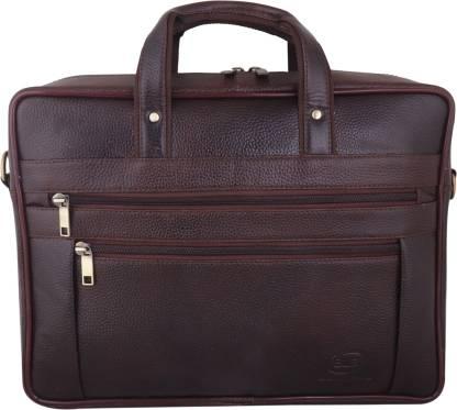 BLB Brown Laptop Bag for Men with Padded Laptop Compartment | Everyday Crossbody Shoulder Office Messenger Bag GPBR1586 Waterproof Messenger Bag