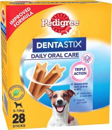 PEDIGREE Dentastix Oral Care for Adult Small Breed (5-10kg), Monthly Pack (28 Sticks) Dog Treat