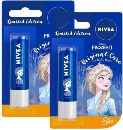 NIVEA Lip Balm, Disney Limited Edition Original Care, 4.8g (Pack of 2) Original