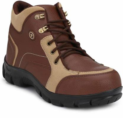 Timberwood TW20TAN-6 Steel Toe Genuine Leather Safety Shoe  (Beige, Brown, SB)