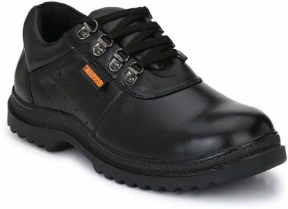 Timberwood TW12A-7 Steel Toe Genuine Leather Safety Shoe  (Black, SB)