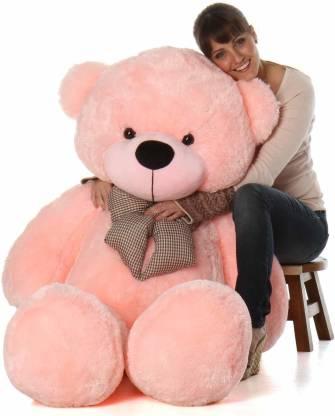 Mowgli Toys Stuffed Teddy Bear - 3 Feet Red tuffed Spongy Lovable/Huggable Teddy Bear with Neck Bow for Girlfriend/Birthday Gift/Boy/Girl  - 91 cm
