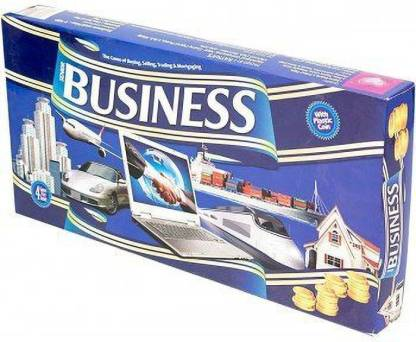 shopviashipping Business Game Senior with Plastic Coins & 4 More Games Inside Money & Assets Games Board Game