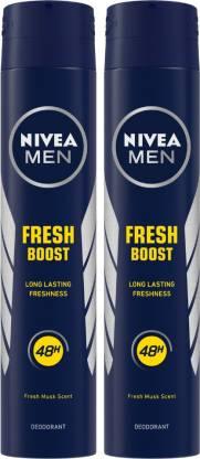 NIVEA Fresh Boost Body Spray  -  For Men