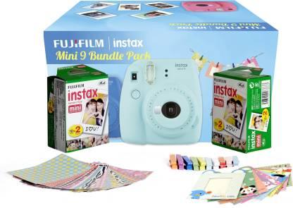 FUJIFILM Instax Mini 9 Bundle Pack (Ice Blue) with 40 Film shot Instant Camera
