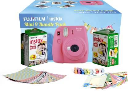 FUJIFILM Instax Mini 9 Bundle Pack (Flamingo Pink) with 40 Film shot Instant Camera
