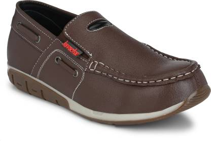 Kavacha Pure Leather Steel Toe Safety Shoe , S 68 Boat Shoes For Men