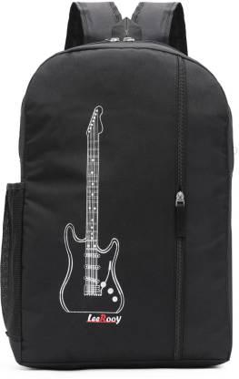 LeeRooy MN-Canvas 30 Ltr Black School Bag Backpack For Unisex Waterproof Backpack