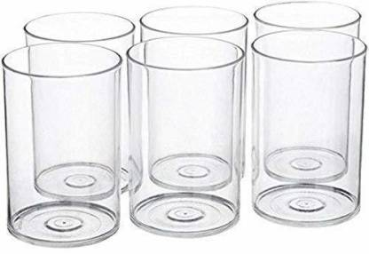 BOROSIL (Pack of 6) Vision Elegance Flute Glass Set of 6 Glass Set