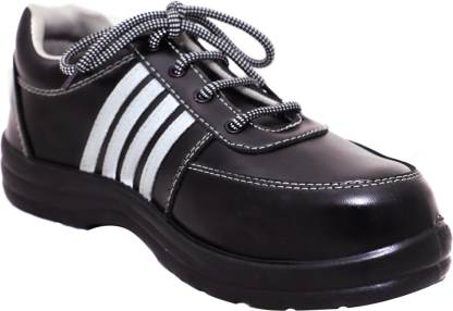 Safies STAR POLO Safety Shoes Steel Toe Synthetic Leather Safety Shoe  (Black, SB)