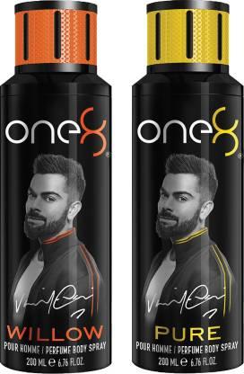 one8 by Virat Kohli Set Of 2 Deos ( Willow + Pure) Perfume Body Spray  -  For Men