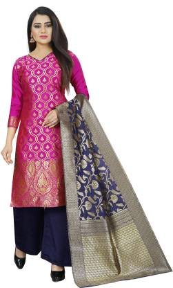SATYAM WEAVES Cotton Silk Blend Woven Salwar Suit Material  (Unstitched)