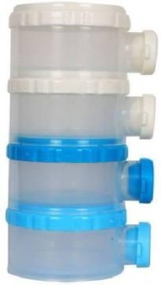 SRS Baby Four Tiered Transparent Plastic Snacks Storage Case