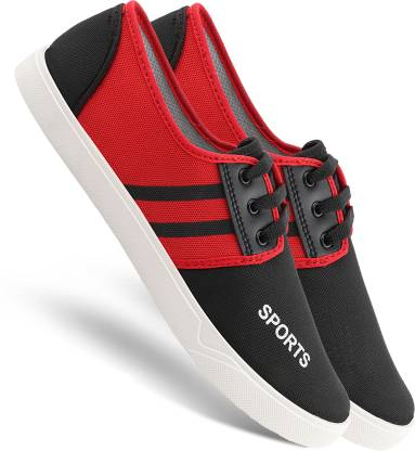 Chevit 168 Smart Red Lace-Ups Casuals for Men Sneakers For Men