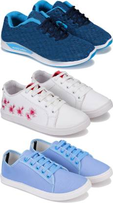Combo pack of 3 sports and running shoes for Women Running Shoes For Women  (Multicolor)