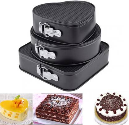 Cake pans Non Stick Baking Tray Decorating Heart Round Square shape Bake Set USA