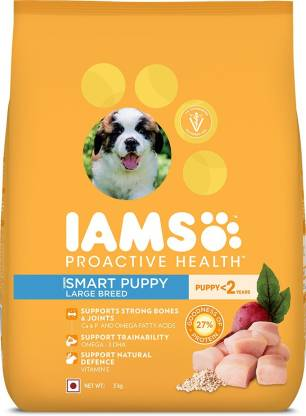 IAMS Proactive Health Smart Puppy Large Breed Dogs (<2 Years) Chicken 3 kg Dry New Born, Young Dog Food