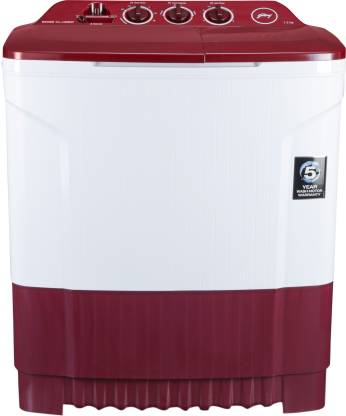 Godrej 7.2 kg Semi Automatic Top Load Red, White  (WS Edge CLS 7.2 PN2 M WNRD)