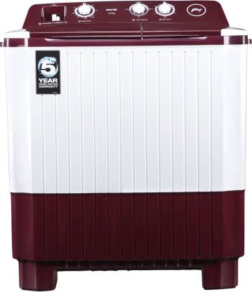 Godrej 7 kg Semi Automatic Top Load Red, White  (WS Axis 7.0 PN2 T WNRD)