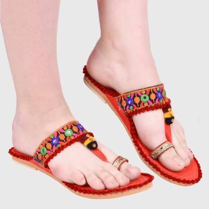 Sayera Women Red Flats