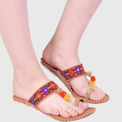 Sayera Women Tan Flats