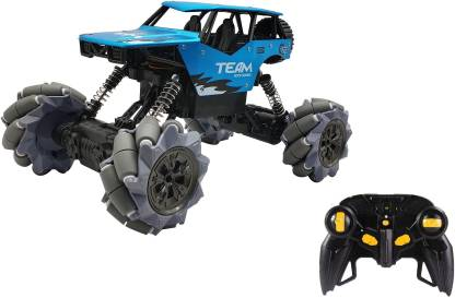 Miss & Chief 1:16 Scale 4WD RC Smart Drifter 2.4 GHz High Speed King Blue Rock Crawler with Rechargeable Batteries