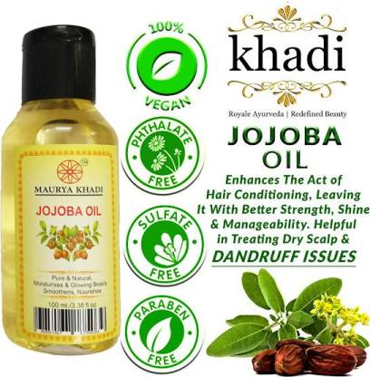 MAURYA KHADI Pure & Natural Jojoba oil Hair Oil - Price in India, Buy  MAURYA KHADI Pure & Natural Jojoba oil Hair Oil Online In India, Reviews,  Ratings & Features | Flipkart.com