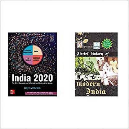 India 2020 : For Civil Services And Other Competitive Examinations + A Brief History Of Modern India (2019-2020 Edition) By Spectrum Books