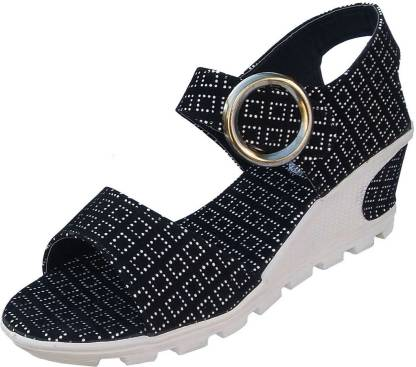 Dream Makers Women Black Wedges