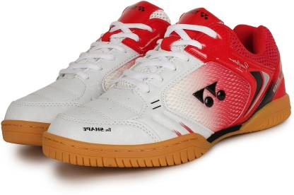 Badminton Shoes For Men(White, Red)