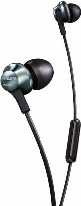 PHILIPS Hi-Res Audio in-Ear Headphones with Mic (Black) Wired Headset