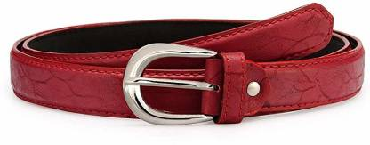 Girls Casual, Party, Formal, Evening Red Artificial Leather Belt