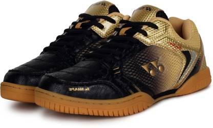 Badminton Shoes For Men(Black, Gold)